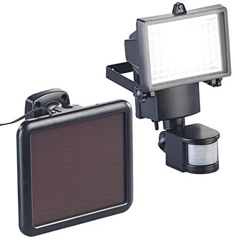 Luminea Solar Scheinwerfer: Solar-LED-Wand-Fluter für außen, mit PIR-Sensor, 12 W, 750 Lumen, IP44 (Solar LED Wandfluter)