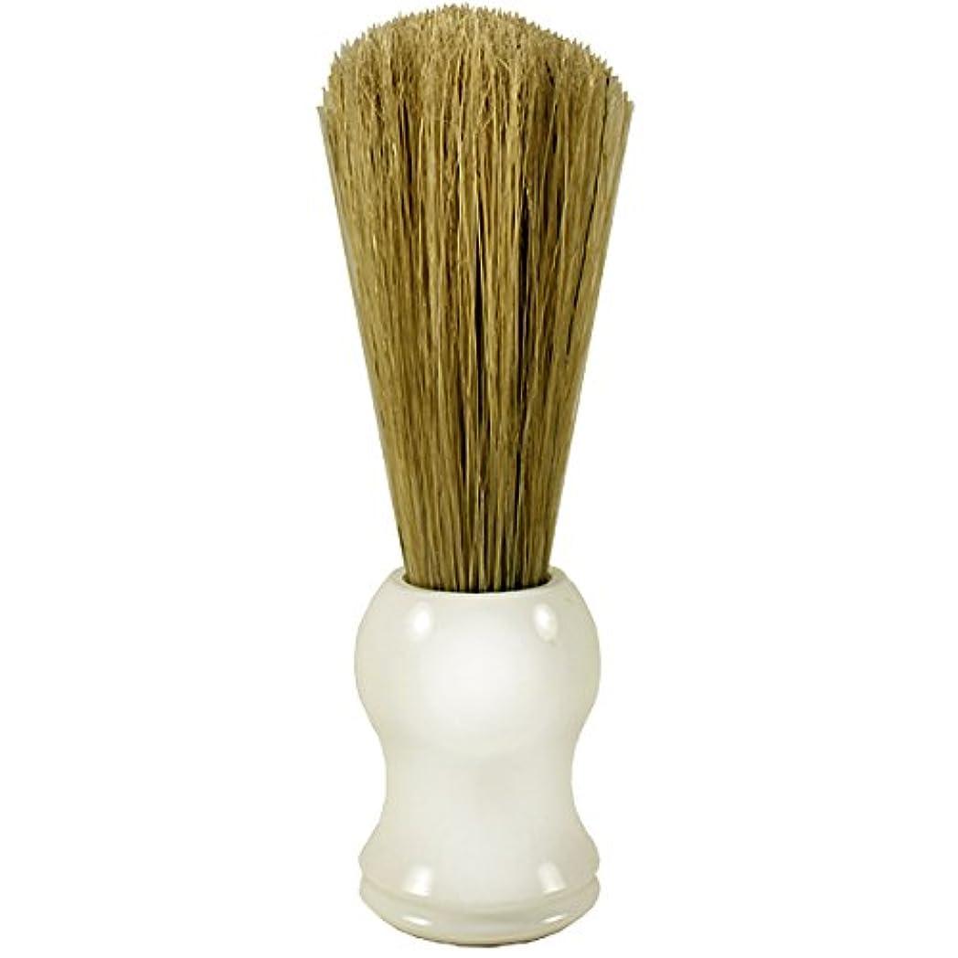 Golddachs Shaving Barber, 100% pig bristle, plastic, white