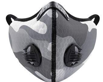 Schutzmaske mit Filter und 2 Ventilen Neopren Camo