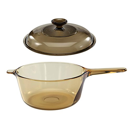 Corning Vision Amber 2.5L Covered Sauce Pan with Lid