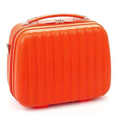 Charmoni - CHMN0002 - robusto beauty case da 12 litri, con passante per trolley, lucchetto con chiave e cinghia inclusa, arancione (Arancione) - ..
