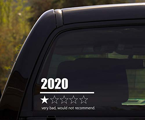 2020 1-Star Very Bad, Would Not Recommend. - Low Rate Humor covid-19 coronavirus Quarantine Funny Vinyl Decal Sticker for Window of car, Van, Jeep, Truck