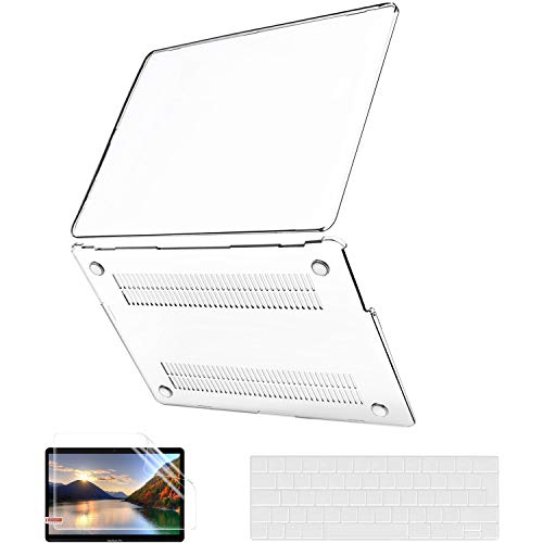 Funda para MacBook Pro 13 Pulgadas 2020-2016 A2338 M1 A2289 A2251 A2159 A1989 A1706 A1708, JGOO Crystal Clear Hard Cover con...