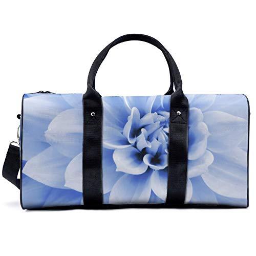 Bolsa de viaje con flores de lirio blanco, para viajes, yoga, camping, gimnasio, hombro, bolsa de lona ligera, para hombres y mujeres