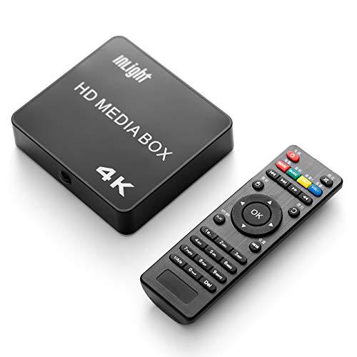 InLight メディアプレーヤー 4K高画質 最大2160p対応 動画・音楽・写真再生プレーヤー SDカード USBメモリ 外付ハードディスク対応 H.265 MP4 FLV MOVなど幅広いサポートフォーマットHDMIケーブル付属 コンパクト 持ち運び便利