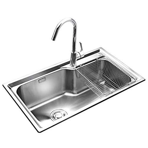 Kitchen Sink Undermount Fregadero de la Cocina Fregadero Doble Ranura Doble tazón...