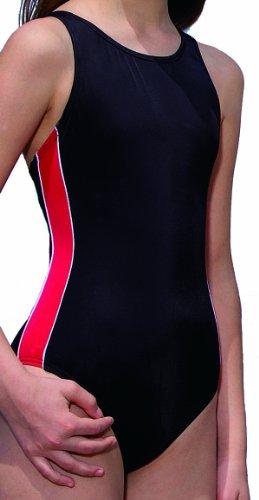 Fashy Mädchen Bademode Einteiler, schwarz-rot, 164, 25165