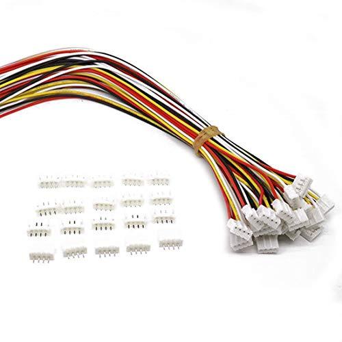 10 Sets Mini Micro JST 2.0 Ph 4 Pin-Stecker-Stecker männlich mit 150 mm Kabel & Female