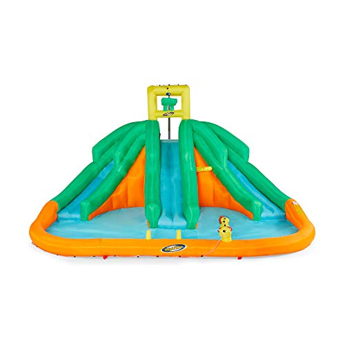 Best Review Of Kahuna 90732 Triple Monster Inflatable Backyard Outdoor Kid Water Slide Park