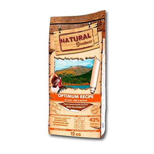 Natural Greatness Optimum Mini & Medium Breed Alimento Seco Completo para Perros - 12000 gr 🔥