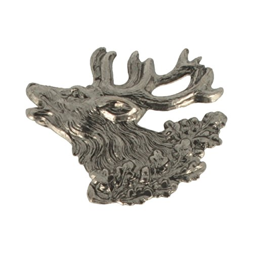 Hutanstecker | Hutabzeichen | Jagdabzeichen | Trachten-Anstecker – Hirsch – 3 x 3 cm – 100% Messing