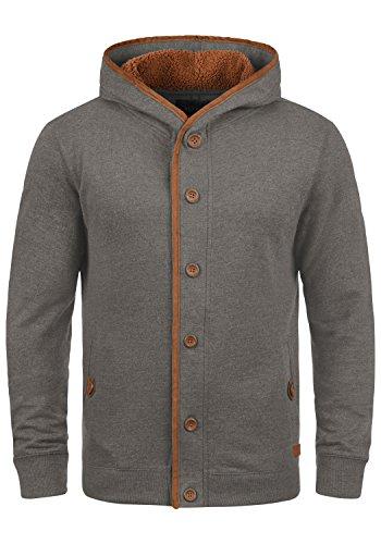 BLEND Alesso Teddy Herren Sweatjacke Übergangsjacke mit Teddy-Futter und Kapuze aus hochwertiger Baumwollmischung Meliert , Größe:M, Farbe:Navy Teddy (74653)