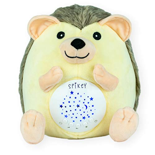 Baby Gift, Rechargeable Baby White Noise Machine, Crib Soother, Baby Soother, Unique Baby Shower Gift, Baby Boy and Baby Girl Gift, Shusher, 13 Lullaby & Nature Sounds, 3 Color Stars Projector