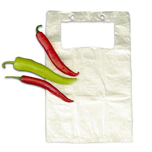 2.500x Hemdchentragetaschen 22 + 12 x 38 transparen, geblockt 25x100 Stück   Hemdchen   Einkaufsbeutel in 22+12x38 cm   Plastiktüten   HUTNER