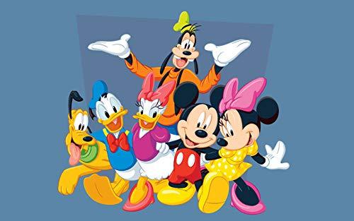 Puzzle 1000 piezas Imágenes divertidas del ratón y el conejo del pato Donald jugando juntos puzzle 1000 piezas Rompecabezas de juguete de descompresión intelectual educativo d50x75cm(20x30inch)