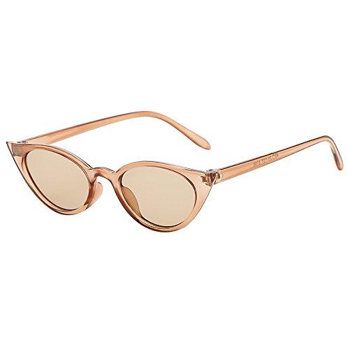 Topgrowth Occhi di Gatto Triangle Occhiali da Sole Donna Vintage Retro Eyewear Integrato UV Caramelle Colorate Bicchieri (A)