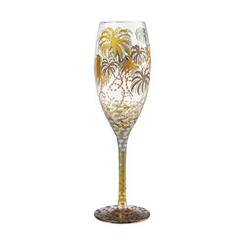 Enesco Designs by Lolita Let's Celebrate Prosecco Glass Champagne Flute, 8 Ounce, Multicolor