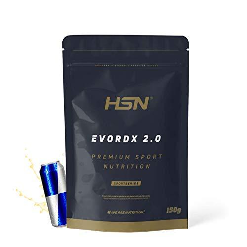 Pre Entreno Potente Evordx 2.0 de HSN | Pre Workout con Cafeína, Creatina Creapure + BCAAs + Beta-Alanina + Arginina | Óxido Nítrico | Sin Carbohidratos | Sabor Energy, 150g
