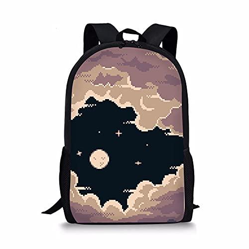 ZHANGWENJIE Personalizzato Pixel Style Stampa Ragazze e ragazzi Zaino scuola borsa Zaino di alta qualità Borsa scuola moda per bambini Borsa 44 * 28 * 13 cm 3