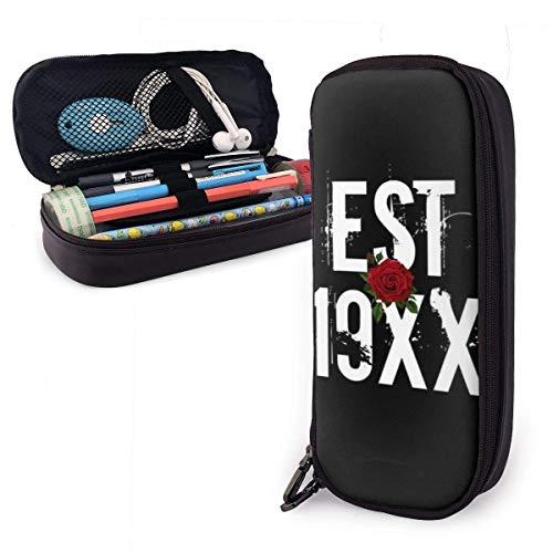 Aufbewahrung für Stiftmarkierungshalter mit großer Kapazität Lace-Up M-Gk Logo Leather Pencil Case Pen Holder School Student Stationery Storage Bag Office Organizer Pouch Box