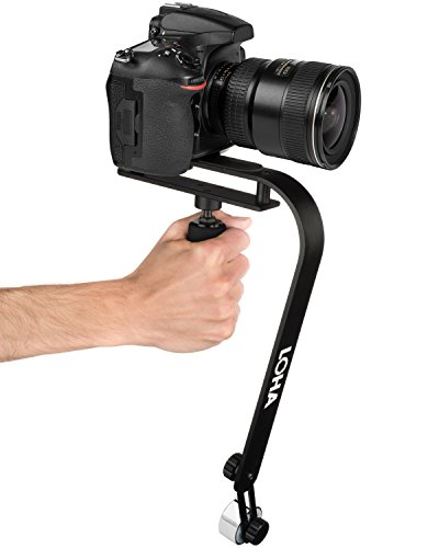 Camera Stabilizer Handheld for DSLR, SLR, and Mirrorless Cameras up to 2.1 lbs, Create Steady Glide Cam Footage with Gimbal Quality