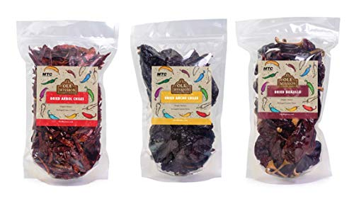 Dried Chili Pepper 3 Pack Bundle