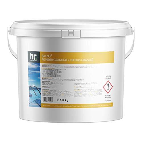 Höfer Chemie 1 x 5 kg pH Plus Granulat BAYZID (pH-Heber) sorgt für eine schnelle und zuverlässige Anhebung des pH-Werts in Pool und Schwimmbad -