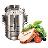 QWER Burger Press Form Edelstahl Ham Press-Hersteller-Maschine Meeresfrüchte Fleisch Geflügel Burger Presse Für Koteletts Frikadelle,Silber
