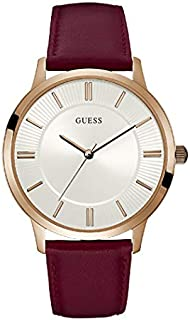 Guess Dress Watch for Men, Stainless Steel Case, White Dial, Analog