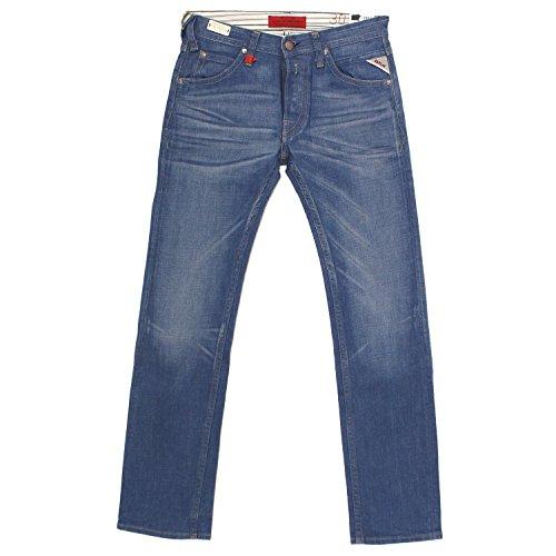 Replay, Tillbor Soccer Fit, Herren Jeans Hose, Denim, Blue raw Used, W 28 L 32 [18456]