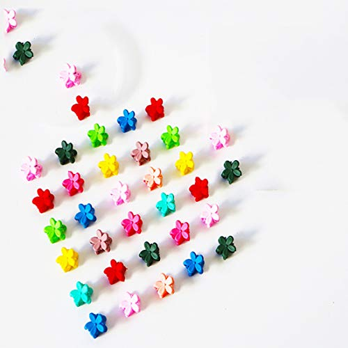 Mini Claw Hair Clips Pin Flower Shaped Pearl type for Toddler and Little Girls Hair Accessories Clips for Teens Girls Kids barrettes (20pcs butterfly)