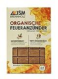Grill-Anzünder von JSM®   Anzündwürfel aus Holz und Pflanzenöl   Kaminanzünder, Grillanzünder   64 Würfel