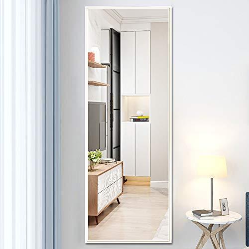 Specchio a figura intera Specchio da toeletta Specchio a parete Specchio per uso domestico Specchio da toeletta Nero / bianco / oro Specchio ad alta definizione Specchio da ingresso-120 × 30 cm