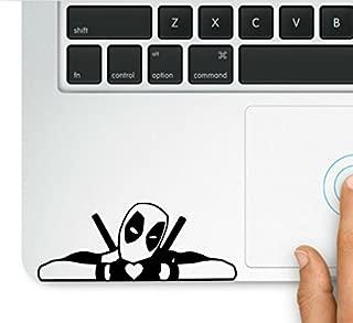 Wicked Decals Deadpool Making Heart MacBook Trackpad Laptop Vinyl Decal Sticker Compatible with MacBook Retina, MacBook Air, MacBook Pro