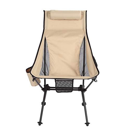 Camping chair Folding Padded Hard Arm Chair High Back Lawn Chair Ergonomic Heavy Duty with Cup Holder for Camp Fishing Hiking Outdoor Carry Bag Included