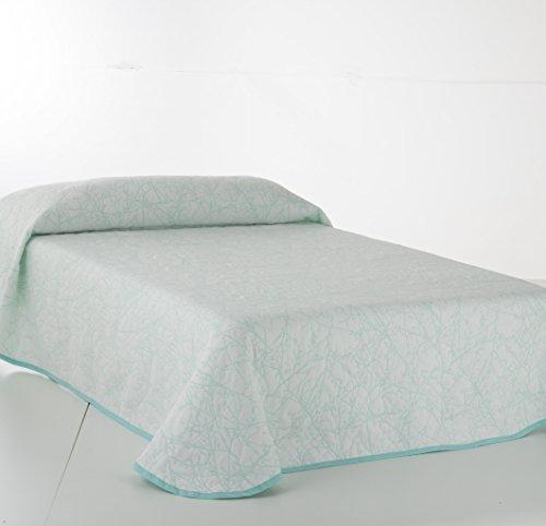 Vialman sprei, groen, voor bed met 90 cm breedte: 180 cm x 270 cm