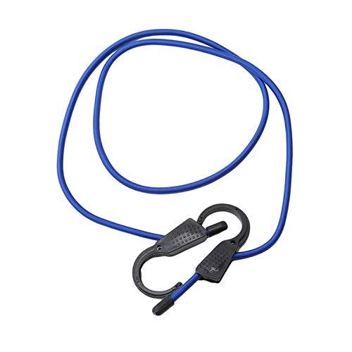 Xianggujie Fuerte Correa elástica de tensión Ajustable Cinturón de cinturón de cinturón de cinturón de Gancho de Carga Equipaje de Carga de cargamento Cuerda de Hebilla (Color : Blue)