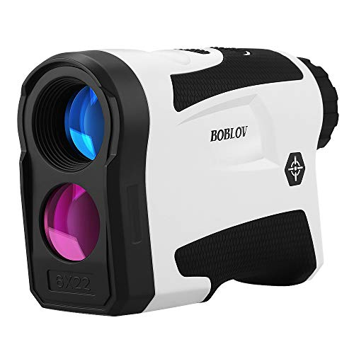 BOBLOV 650Yards Golf Rangefinder with Pinsensor Support Vibration On/Off and USB Charging Flag Lock Distance Speed Measurement Range Finder (LF600G Without Slope White) (White)