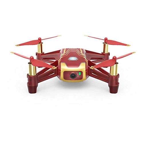 RyzeTello - drone ideaal voor korte video's met Ez-shots, VR-bril en gamecontrollers compatibiliteit, 720p HD-overdracht en 100 meter bereik, Tello iron Man, Tello Iron Man