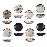 Cabilock Piatto Piatto di Salsa di Immersione Ciotole Giapponese Salsa di Salsa Ciotola di Ceramica Spuntino Vassoio Tazze Porzione Tazze Condimento Salsa Vassoio di Piastre per Salsa di