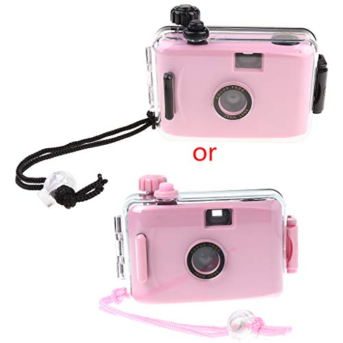 shuoyiersty Underwater Waterproof Lomo Camera, Mini Cute 35mm Film with Housing Case — Pink