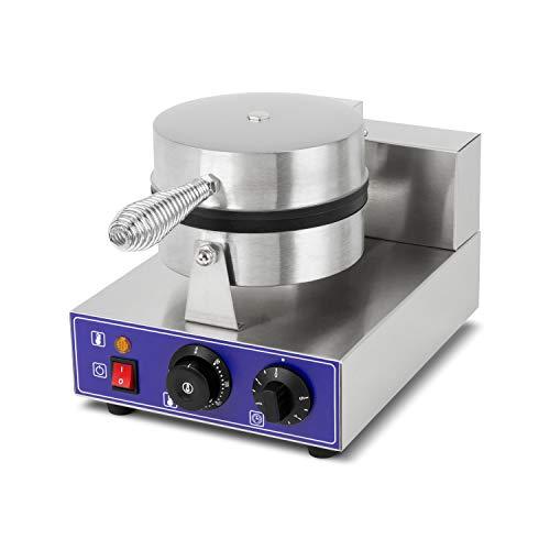 vertes Gastronomie Waffeleisen Waffelmaschine belgische Brüsseler Waffeln Edelstahl (1000 Watt, Timer Funktion, 0-350°C Temperatur regelbar)
