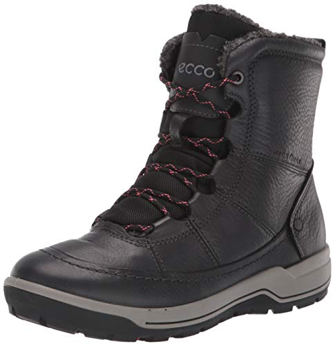 ECCO Women's Trace Lite Mid Hydromax Water-Resistant Winter Snow Boot, Black Nubuck, 40 M EU (9-9.5 US)