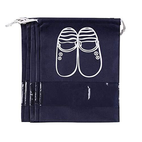 5x Schuhtaschen , Wasserdicht Schuhtasche Organizertaschen Schuh Organizer Tasche Mittel , Navy Blau A0069-3