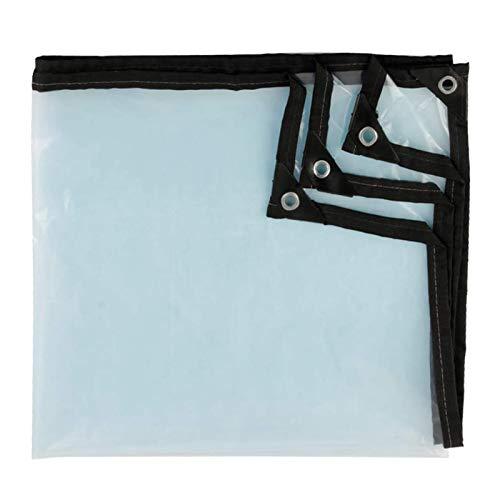 AMDHZ Lona De Plástico Transparente Impermeable Lona Multifuncional Carpa for Camping PVC Vidrio Blando con Ojales Resistente al desgarro for Muebles de jardín, Piscina, Coche, camión