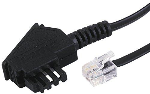 Hama Telefonkabel (TAE-F-Stecker - Modular-Stecker 6p4c, 6m) schwarz