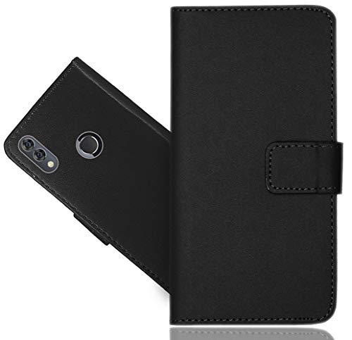 Alcatel 5V Handy Tasche, FoneExpert Schwarz Wallet Hülle Flip Cover Hüllen Etui Hülle Ledertasche Lederhülle Schutzhülle Für Alcatel 5V