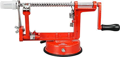 ARSUK Apfelschäler Kartoffel Obstschneider, Apfelentkerner, Schälmaschine Kartoffelschäler und Spiralisierer, Gemüseschäler für die Küche, Einfache Apfelschäl Maschine, Obstentkerner