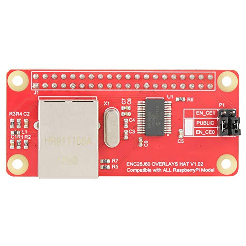 Enc28j60-netwerkadaptermodule, ethernet LAN-netwerkadaptermodule, speciaal ontwikkeld voor Raspberry Pi Zero/W, eenvoudig te monteren, eenvoudig te installeren, probleemloze toegang tot het netwerk