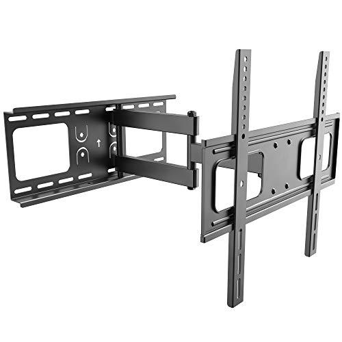 RICOO TV Fernseher-Wand-Halterung Schwenkbar Neigbar (S3744) Universal Fernsehhalterung für 32-55 Zoll (bis 50-Kg, Max-VESA 400x400) Flach Curved OLED LCD Bildschirm